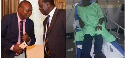 Philip Etale left unconscious after being sprayed with POISON