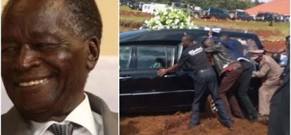 Vehicle ferrying Nichola's Biwotts remains gets stuck on the road (photos)