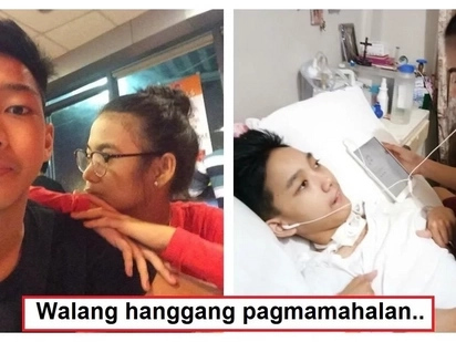 Sa sakit man o kalusugan! Teenage girlfriend earned heaps of praises for taking care of her bedridden boyfriend with brain injury