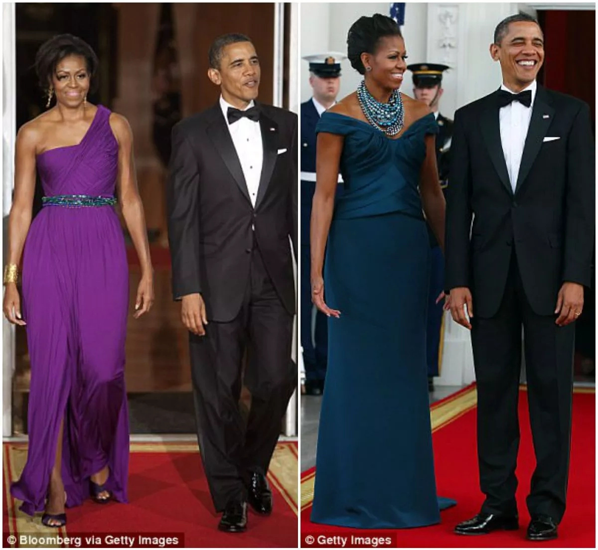 Michelle said Obama often teased her about how long it took her to choose a dress for state dinners