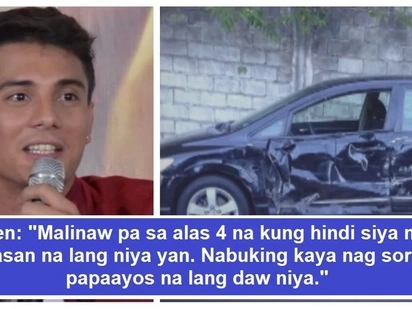 Palusot daw na nakatulog! Netizens react over EJ Falcon's apology on his recent road mishap