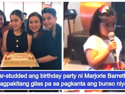 Marjorie Barretto receives star-studded birthday party; her youngest daughter wows crowd with singing voice