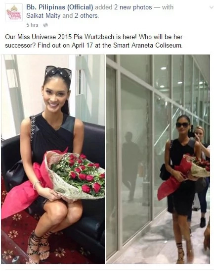 Pia Wurtzbach arrives home to crown possible Miss Universe successor