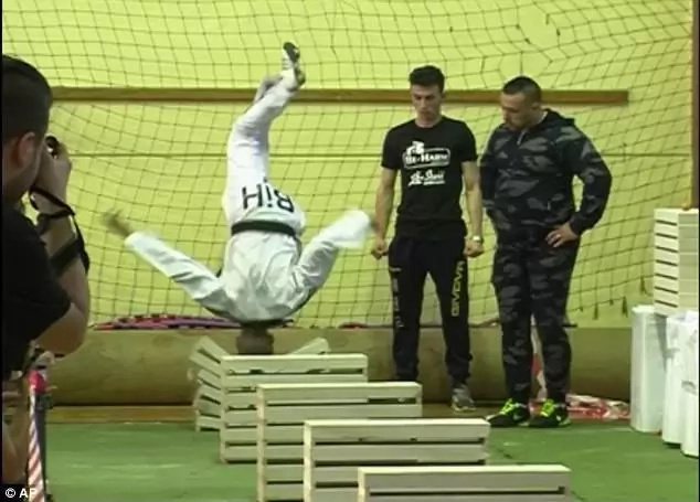 Boy, 16, breaks 111 concrete blocks with his HEAD, sets new Guinness World RECORD (photos, video)