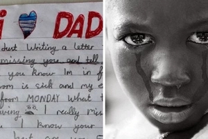 "Mum finds heartbreaking note from grieving little boy to daddy in ""Heaven"" (photos)"