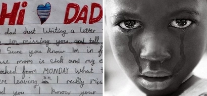"""Mum finds heartbreaking note from grieving little boy to daddy in """"Heaven"""" (photos)"""