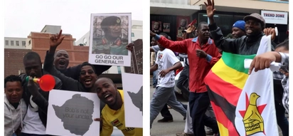 Goodbye! Thousands of Zimbabweans flood streets of Harare to celebrate Mugabe's imminent downfall