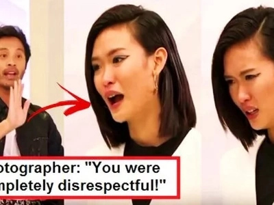 WATCH: Indonesian model who bullied Maureen on 'Asia's Next Top Model' cried hard after getting lambasted by the photographer!