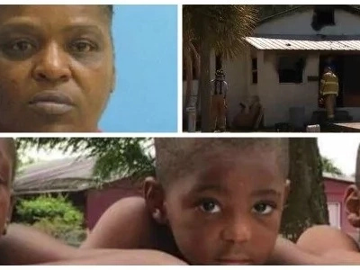 Woman, 49, faces murder charges after setting ex-boyfriend's house on FIRE, killing his 3 grandsons (photos)