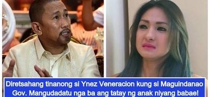 Maguindanao governor ang ama? Ynez Veneracion, may mga rebelasyon ukol sa tatay ng kaniyang anak