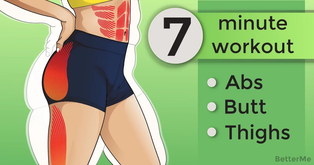 7-minute abs, butt, and thighs home workout