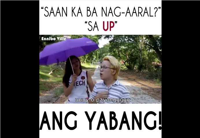 UP (University of the Philippines)?.. Cocky! Video went viral!