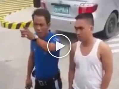 Traffic enforcer sa Batangas binastos ang drayber ng bus na lumabag sa batas trapiko