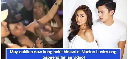 Ito raw ang rason kung bakit hinawi! JaDine fans defend Nadine Lustre over 'hawi' issue with a female fan