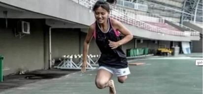 This 22 year old woman lost her leg, but that doesn't stop her from doing this!