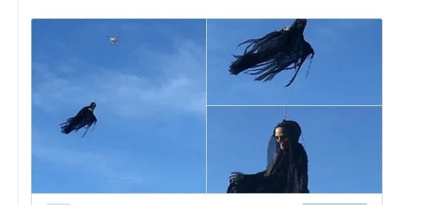 Someone Terrorizes Americans With DRONE-MOUNTED Angel of Death