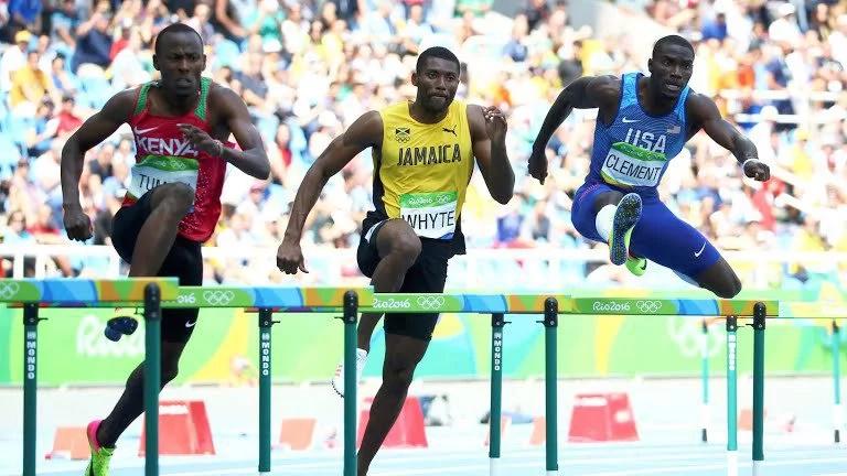 Boniface Mucheru wins silver in the 400 metres hurdles
