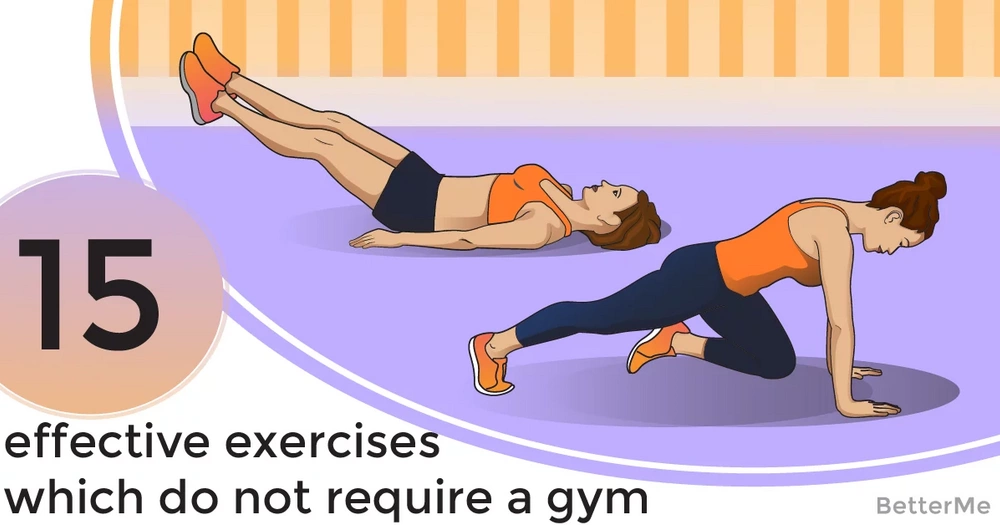 15 effective exercises which do not require a gym