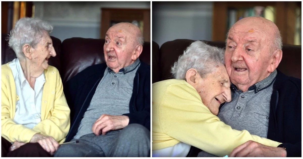 A mother's love! 98-year-old mom moves into care home to look after her 80-year-old son