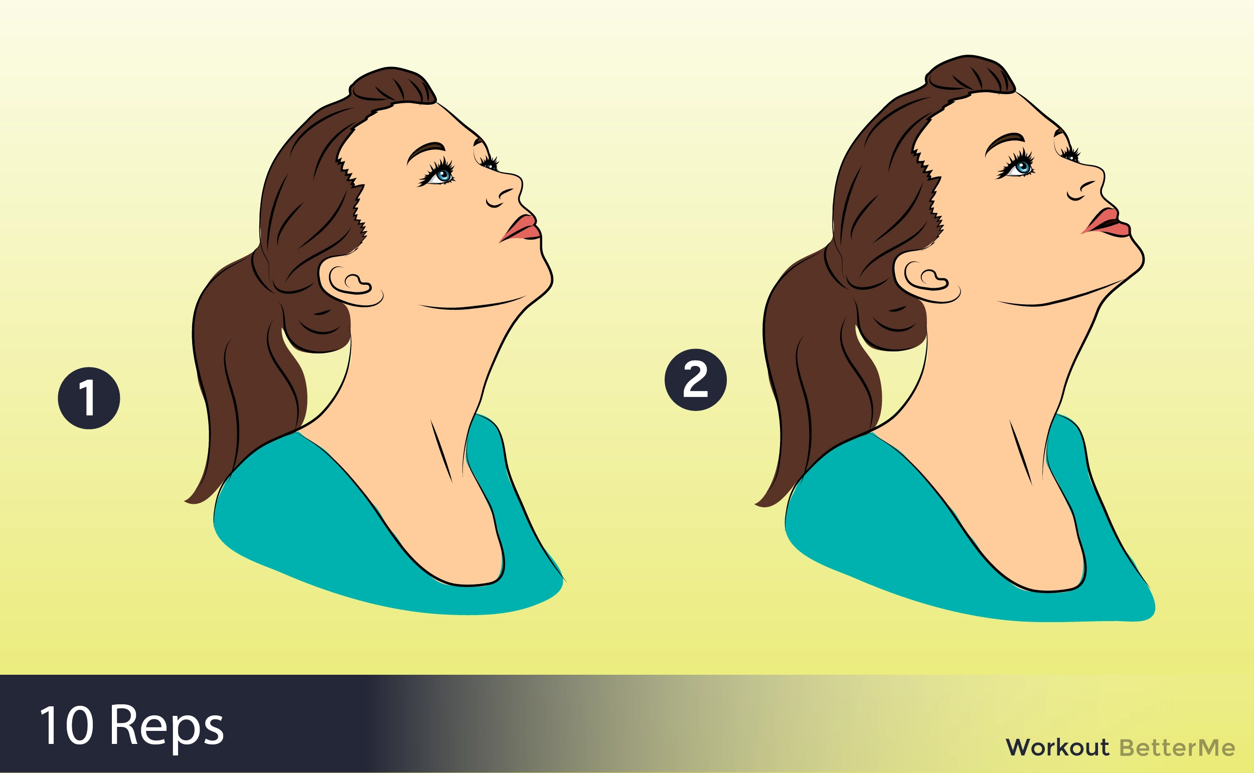 How to remove the second chin: 10 best exercises