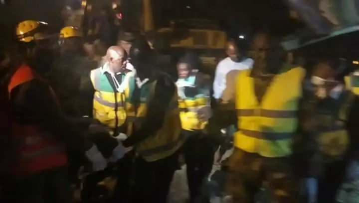 Joy as child trapped in collapsed Pipeline building is rescued