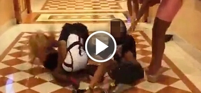 Video of crazy girls fighting with each other using their bags and high heels is nothing to mess with
