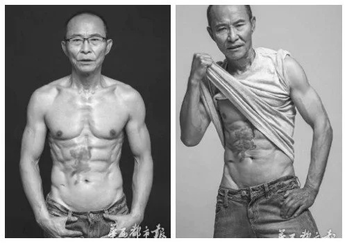 This Chinese grandpa is 61, but his shaped body is the real women-killer