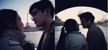 Nadine Lustre and James Reid share passionate kiss while abroad