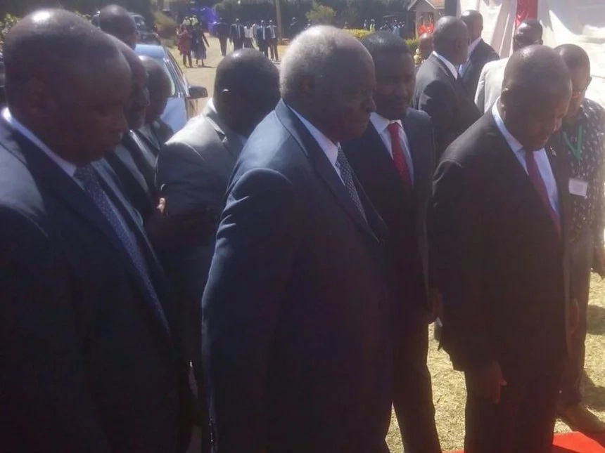 Mwai Kibaki's INCOHERENT speech at Gachagua's funeral leaves Kenyans confused