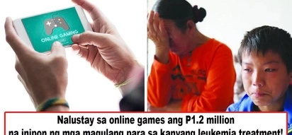 Nang dahil sa online games! 10-year-old boy recklessly spends P1.2M meant for his leukemia treatment on online games
