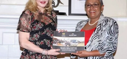 Pop icon Madonna meets Kenya's First Lady (Photos)