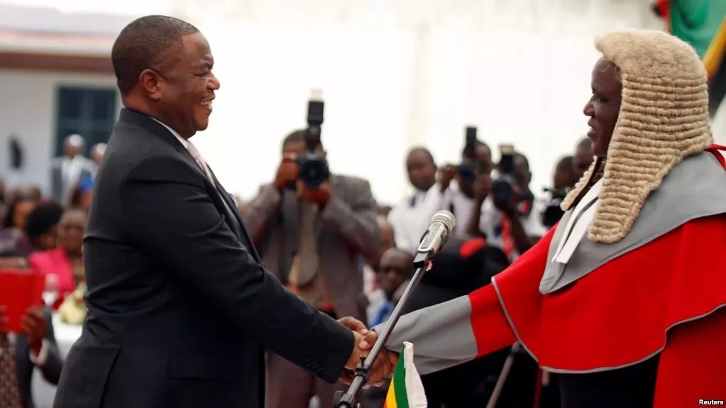 General who led Mugabe ouster sworn in as Zimbabwe veep