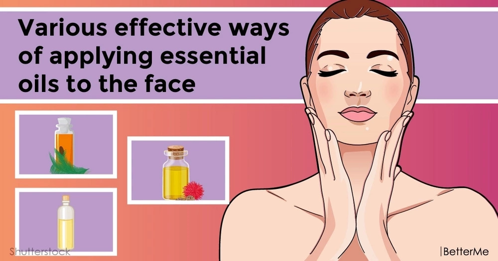 Various effective ways of applying essential oils to the face