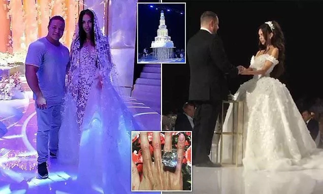 Billionaire man marries his model girlfriend with one billion naira diamond ring (photos)