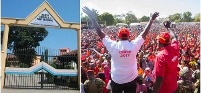 Uhuru's sweet gift to students who had to wait hours for his arrival