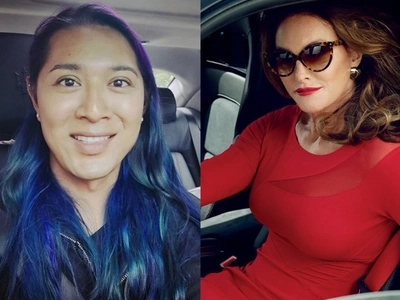 Mahilig sa sasakyan! Angelina Mead King encounters Caitlyn Jenner at a car show