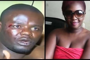 Photos of hot woman busted by GIANT husband with renown Gor Mahia fan