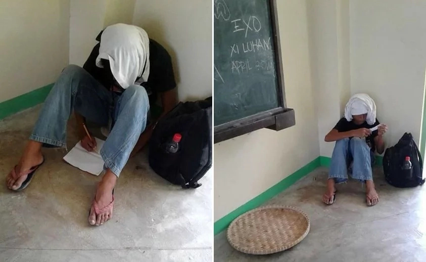 Poor kid! This student gets mocked after selling trash to sustain his expenses at school