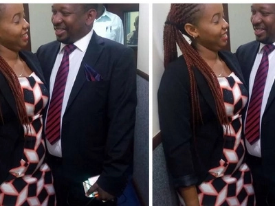 Photos of Mike Sonko blushing as he stares at a girl in the eyes go viral