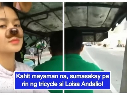 Simpleng buhay pa rin! Loisa Andalio shares epic video of her tricycle ride