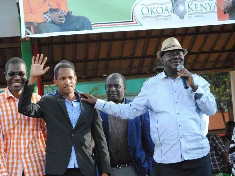 Video of Raila Odinga 'endorsing' Babu Owino for a parliamentary seat