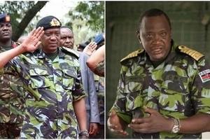 9 startlingly impressive photos of Uhuru in military uniform when he surprised KDF soldiers in Somalia