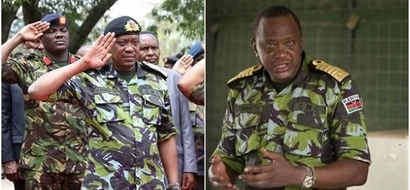 9 startlingly impressive photos of Uhuru in military uniform when he surprised KDF soldiers in Somalia