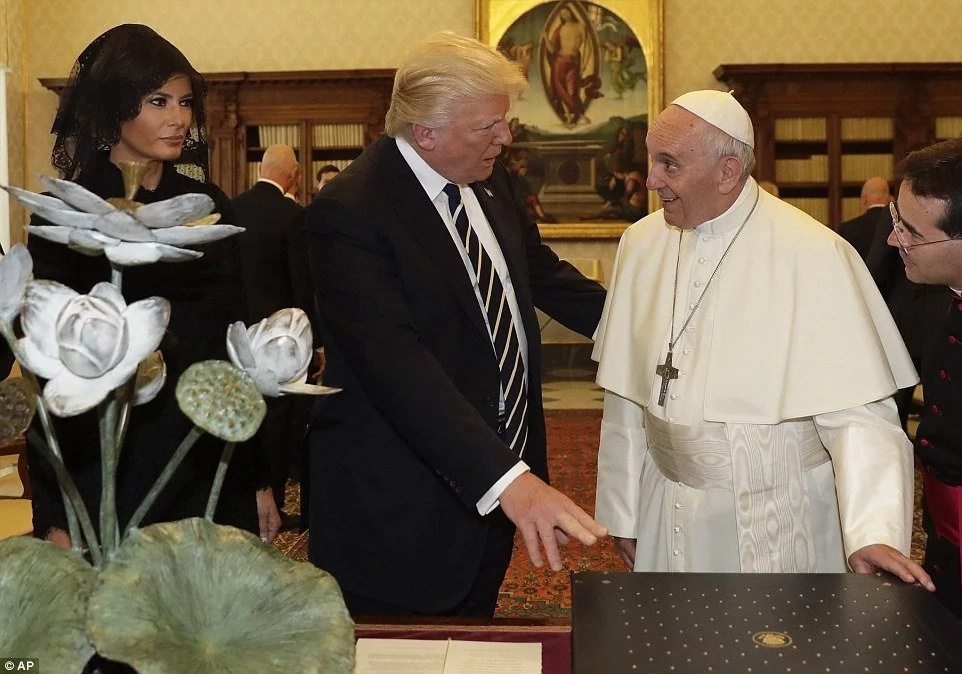 Trump promises peace push after 'fantastic' pope talks