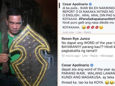 Enraged reporter Cesar Apolinario hits back at netizen who accused media of being 'bayaran'