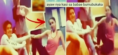 Joshua Garcia caught on video pulling on Julia Barretto's arm! Hindi natuwa sa kilos at posing ni Julia!