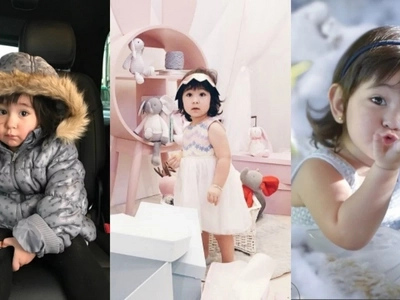 Fashion trend alert! Adorable Scarlet Snow is the new baby trendsetter with her 'down crown' fashion invention