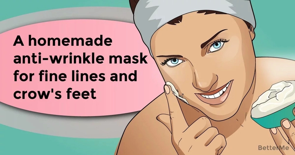 A homemade anti-wrinkle mask for fine lines and crow's feet