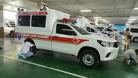 Photos of the high advanced life support ambulances imported by governor Kabogo