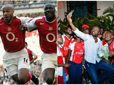 EXCITEMENT everywhere as another Arsenal legend lands in Kenya after Sol Campbell(PHOTOS)